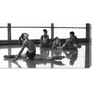 Ballet Dancers at Rehearsal: 36 x 18 Canvas Giclees, Wall Art