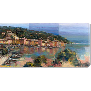 Portofino Destate by Luigi Florio: 36 x 18 Canvas Giclees, Wall Art