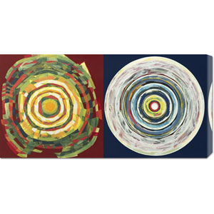 Target Duo I by Nino Mustica: 36 x 18 Canvas Giclees, Wall Art