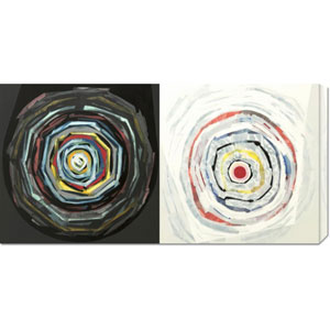 Target duo II by Nino Mustica: 36 x 18 Canvas Giclees, Wall Art