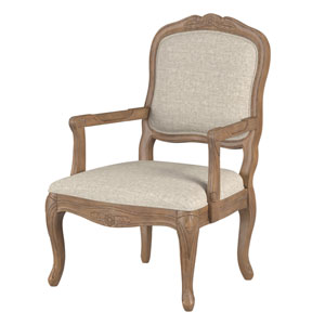 Pearce Chestnut and Gray Arm Chair