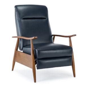 Solaris Midnight Blue Push Back Reclining Chair