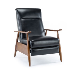 Solaris Black Push Back Reclining Chair