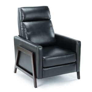 Maxton Black Push Back Recliner