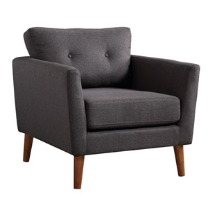 Luna Charcoal and Brown Arm Chair