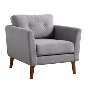 Luna Gray and Brown Arm Chair