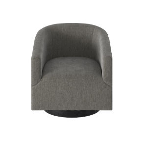 Geneva Charcoal Wood Base Swivel Chair