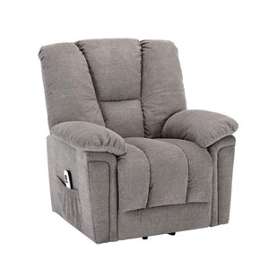 Charleston Ash Gray Microfiber Upholstery Lift Chair