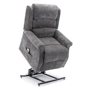 Ashland Charcoal Upholstery Lift Chair with Massage