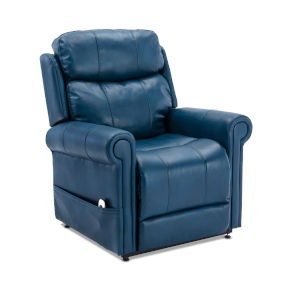 Langdon Navy Blue Upholstery Lift Chair with Massage