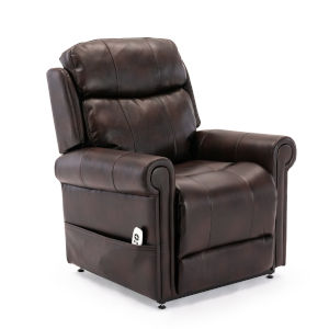 Langdon Burnished Brown Upholstery Lift Chair with Massage