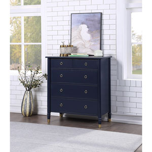 Jillian Midnight Blue Five Drawer Chest
