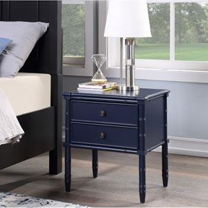 Ellison Midnight Blue Two Drawer Nightstand