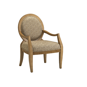 Transitional Hand-Carved Chair with Oval Back And Very Clean Lines