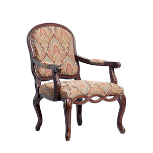 Dark Pecan Harvard Carved Chair
