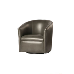 Draper Pewter Swivel Chair