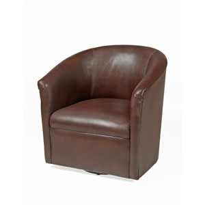 Draper Chocolate Swivel Chair