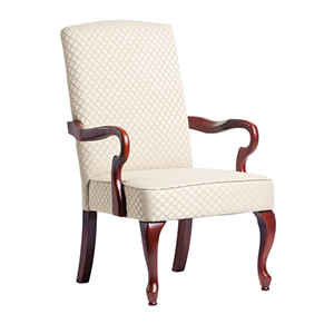 Beige Goose Neck Arm Chair