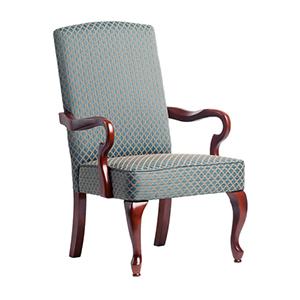 Blue Goose Neck Arm Chair