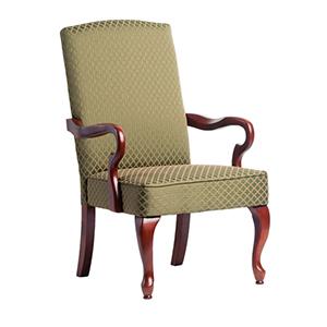 Green Goose Neck Arm Chair