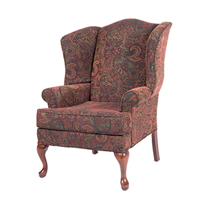 Paisley Cranberry Wing Back Chair