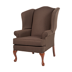 Erin Brown Wing Back Chair