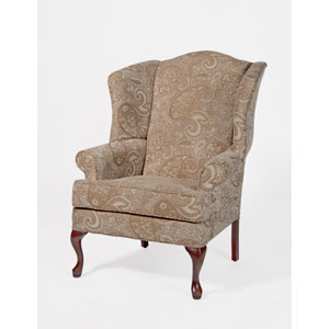 Paisley Cream Wingback Chair