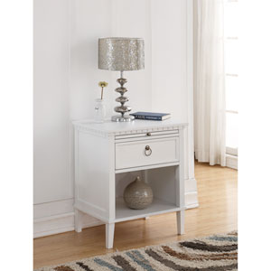 Myla White Nightstand