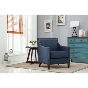Taslo Navy Blue Accent Chair