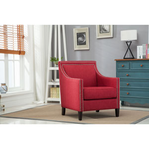 Taslo Red Accent Chair