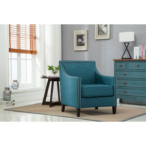 Taslo Teal Accent Chair