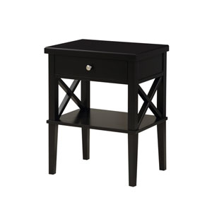 Marta Black Nightstand