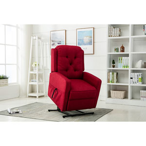 Paxton Red Track Arm Lift Chair