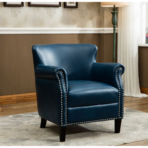 Holly Navy Blue Club Chair
