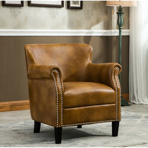 Holly Camel Club Chair