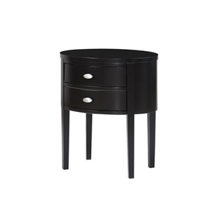 Verena Black Nightstand