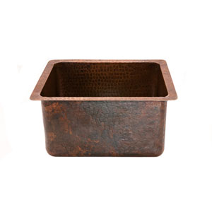 Gourmet Rectangular Hammered Copper Bar/Prep Sink