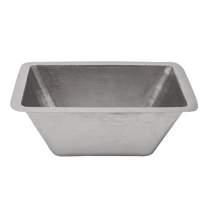 Electroless Nickel 17-Inch Rectangle Prep Sink with 3.5-Inch Drain Size