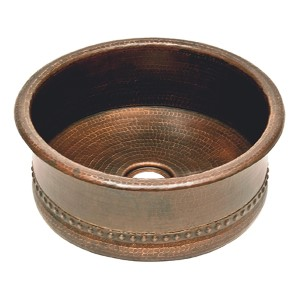 Oil Rubbed Low-Lead Bronze 15-Inch Wide Round Vessel Bar and Prep Sink