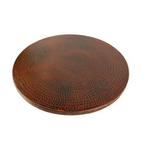 Hand Hammered Copper 20-Inch Lazy Susan