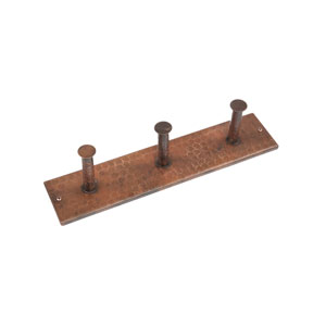 Hand Hammered Copper Triple Robe Hook