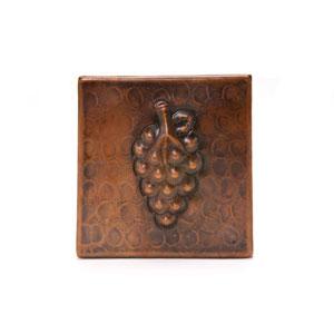 4x4-Inch Copper Grape Tile