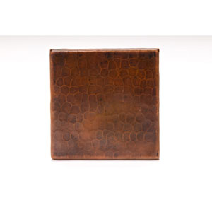 4x4-Inch Hammered Copper Tile