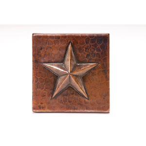 4x4-Inch Copper Star Tile