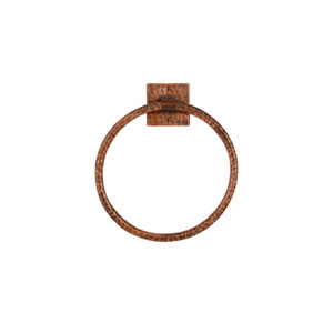 Hand Hammered Copper 10-Inch Full Size Bath Towel Ring