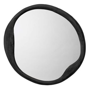 Organic Antique Iron Round Mirror