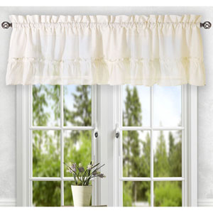 Stacey Ice Cream 56 x 24-Inch Tailored Tier Pair Curtains