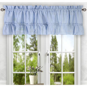 Stacey Slate 56 x 24-Inch Tailored Tier Pair Curtains