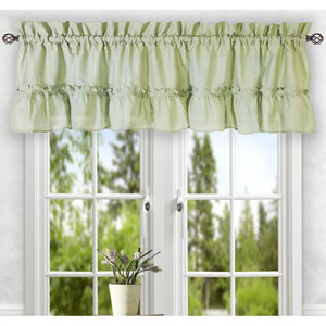 Stacey Sage 56 x 24-Inch Tailored Tier Pair Curtains