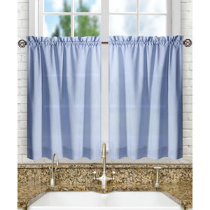 Stacey Slate 56 x 36-Inch Tailored Tier Pair Curtains